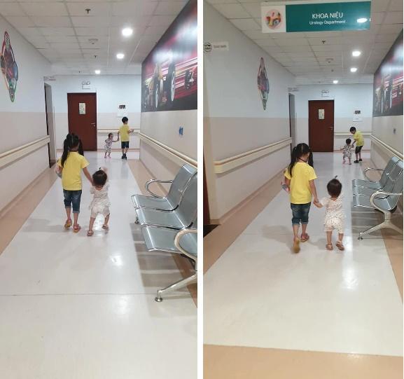 Khoảnh khắc 2 chị em ríu rít sau khi bé Diệu Nhi được phẫu thuật hoàn chỉnh đường tiêu hóa-3