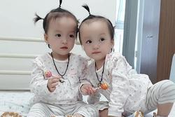 Khoảnh khắc 2 chị em ríu rít sau khi bé Diệu Nhi được phẫu thuật hoàn chỉnh đường tiêu hóa