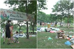 Sau 1 ngày nghỉ lễ, cảnh 'người về rác ở lại' tại công viên Yên Sở thật sự kinh hãi
