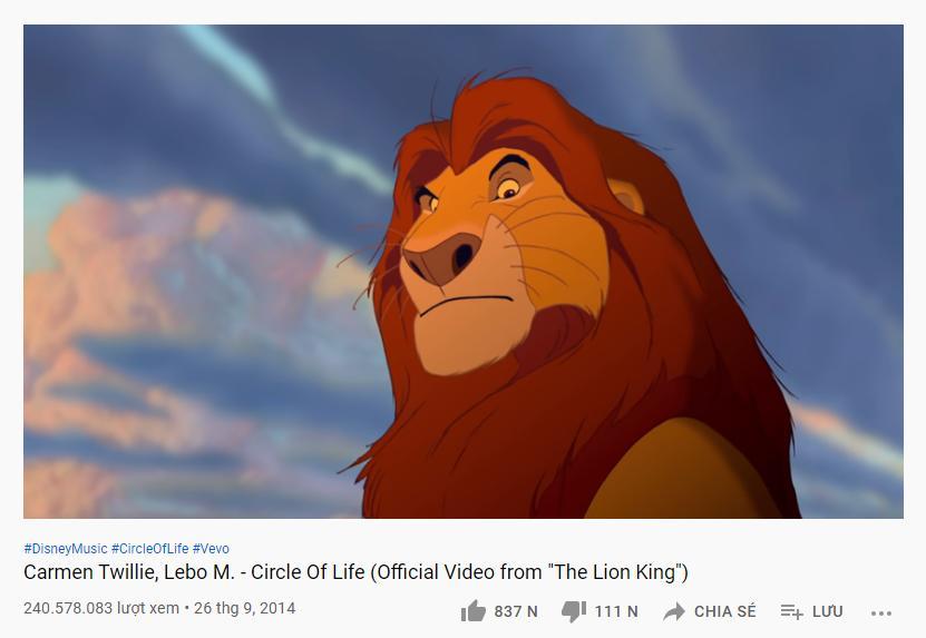 Những ca khúc tỷ view trong danh sách vũ trụ công chúa Disney-10