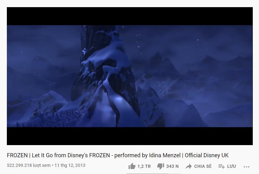 Những ca khúc tỷ view trong danh sách vũ trụ công chúa Disney-5