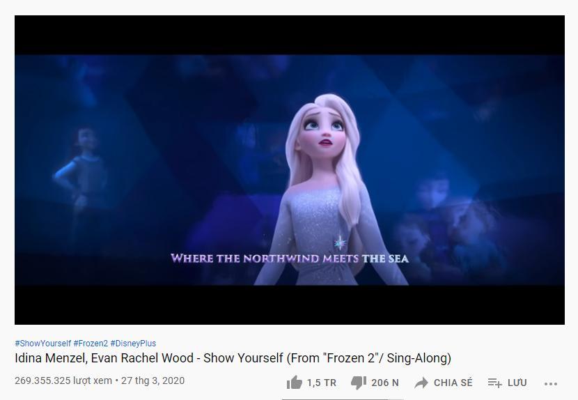 Những ca khúc tỷ view trong danh sách vũ trụ công chúa Disney-9