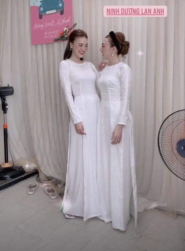 Lan Ngọc diện áo dài đẹp hơn cả cô dâu trong đám cưới em trai-5