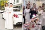 Lan Ngọc diện áo dài đẹp hơn cả cô dâu trong đám cưới em trai
