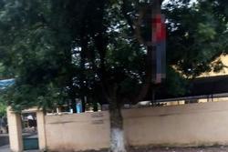 Người đàn ông chết trong tư thế treo cổ ngay cạnh cổng trường học