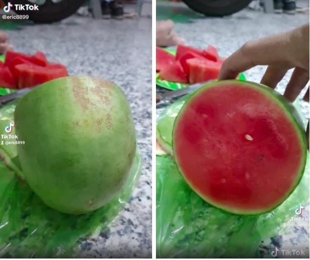 Những pha bổ quả cho thấy dưa hấu là loại trái cây bán đứng con người nhiều nhất-10