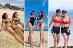 Kỳ Duyên - Minh Triệu đọ dáng bikini: Hoa hậu hay người mẫu 'bốc' lửa hơn?