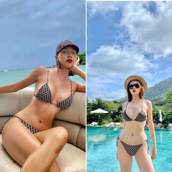 Kỳ Duyên - Minh Triệu đọ dáng bikini: Hoa hậu hay người mẫu bốc lửa hơn?-10