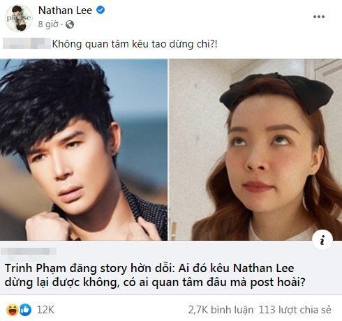Khuyên Nathan Lee ngừng chiến, Trinh Phạm bị tế thấy thương-2