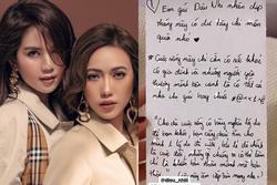 Diệu Nhi viết thư tay gửi Ngọc Trinh giữa drama