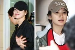 Nhan sắc Song Hye Kyo xuất chúng đến nỗi 'chấp' những kiểu mũ xấu nhất