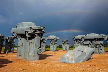 39 ô tô xếp tầng tái tạo bãi đá cổ kỳ quan thế giới