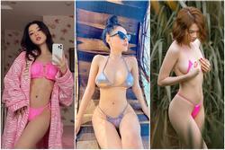 Bikini 'cọng thun' bé bằng bàn tay thu hút loạt mỹ nhân thị phi showbiz