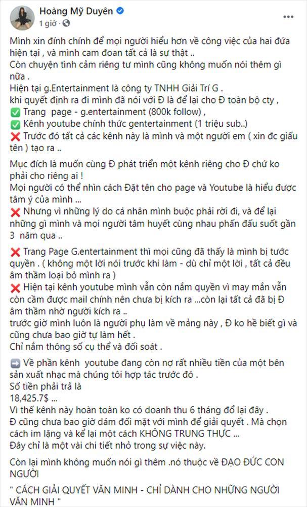 Đạt G xin lỗi Du Uyên, xác nhận mối quan hệ với Cindy Lư: Cô ấy không có tội-3