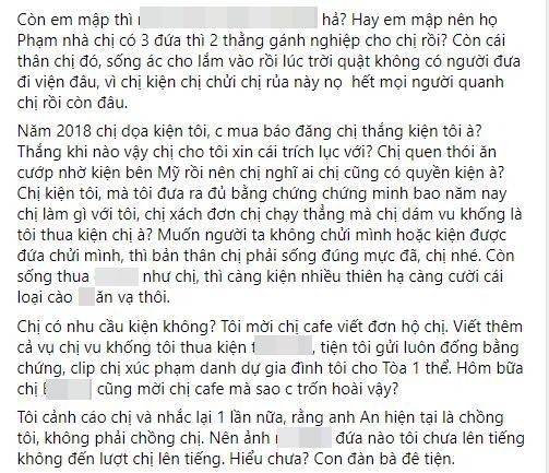 Khỏi cần úp mở, Phan Như Thảo chửi vợ cũ của chồng không tiếc lời-5
