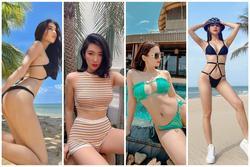 Sao Việt khoe body 'gắt' dịp nghỉ lễ: Lệ Quyên diện bikini tí hon - Thúy Ngân kín bưng