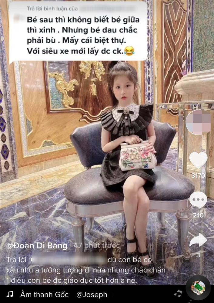 Con gái bị mỉa mai giàu mà xấu, Đoàn Di Băng đăng ảnh tế antifan-2