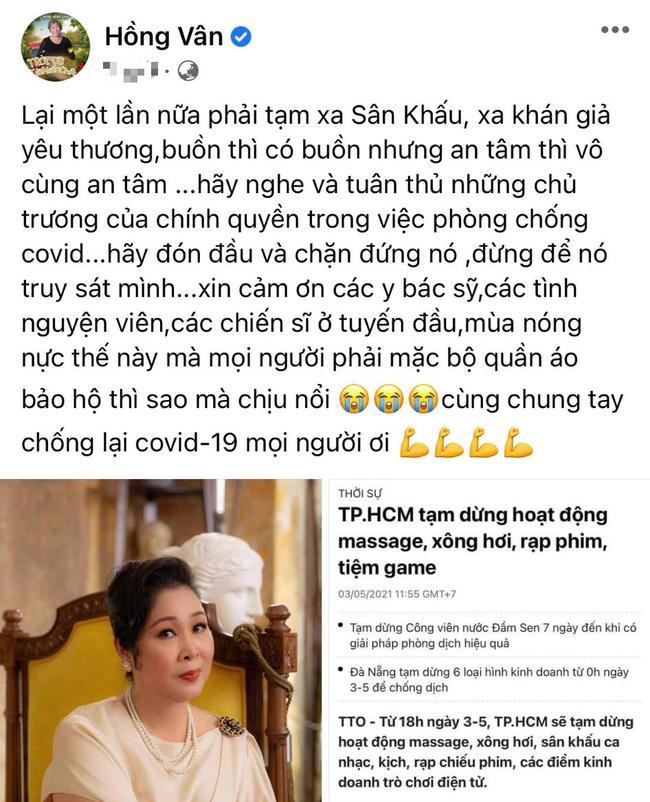 NSND Hồng Vân, Ngô Thanh Vân nói gì khi sân khấu kịch đóng cửa, Trạng Tí ngừng chiếu?-1