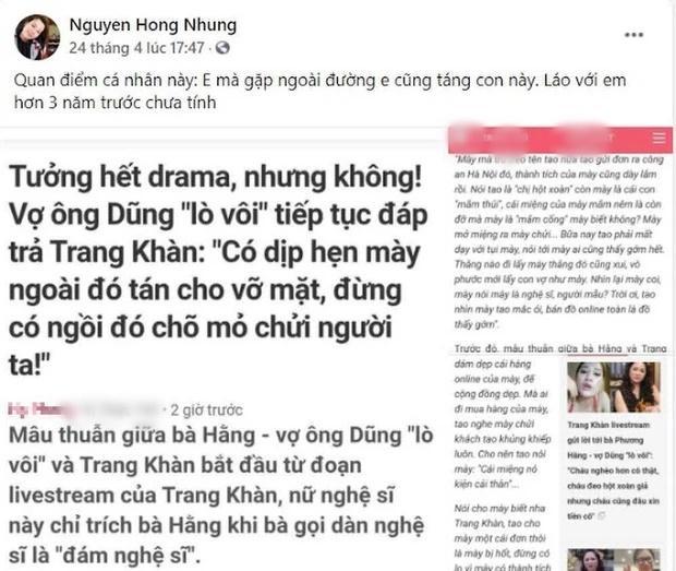 Vợ Xuân Bắc liên tục cà khịa Trang Trần, cựu mẫu đáp trả còn sẵn sàng tay đôi-1
