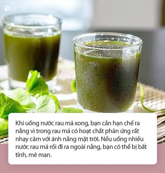 Nước rau má vừa ngon lại mát mùa nóng nhưng đừng uống theo những cách này-2
