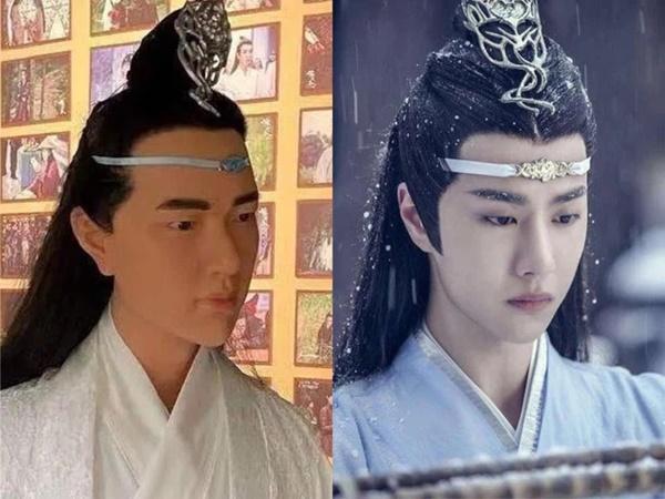 Fan khóc thét với tượng sáp Lam Vong Cơ (Vương Nhất Bác) như ông chú trung niên-1