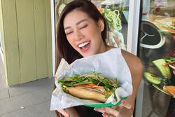 Trước thềm Miss Universe, Hoa hậu Khánh Vân vẫn kịp thử một món Việt trên đất Mỹ