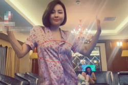 Hot girl Trâm Anh bị nghi thả rông vòng 1 trong clip 13s