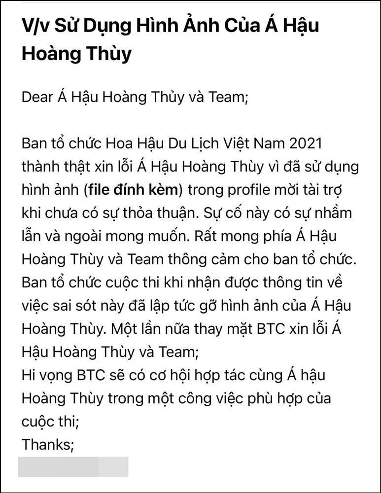 Hoàng Thùy tố cáo cuộc thi Hoa hậu Du lịch Việt Nam 2021-3