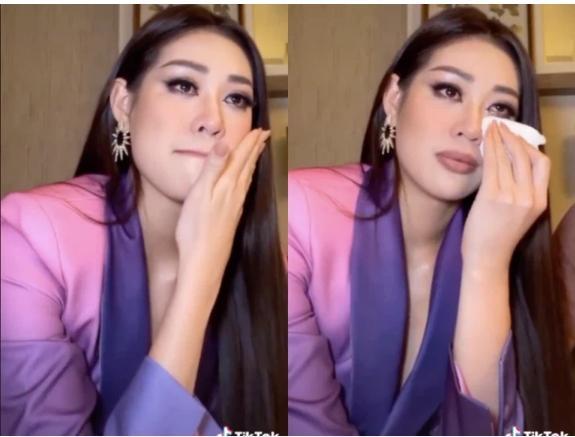 Vừa tới Mỹ thi Miss Universe, Khánh Vân bị chỉ trích vì khóc trên livestream-2