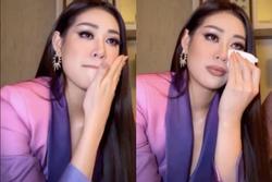 Vừa tới Mỹ thi 'Miss Universe', Khánh Vân bị chỉ trích vì khóc trên livestream