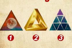 Hình tam giác yêu thích tiết lộ điều bạn coi trọng trong cuộc sống