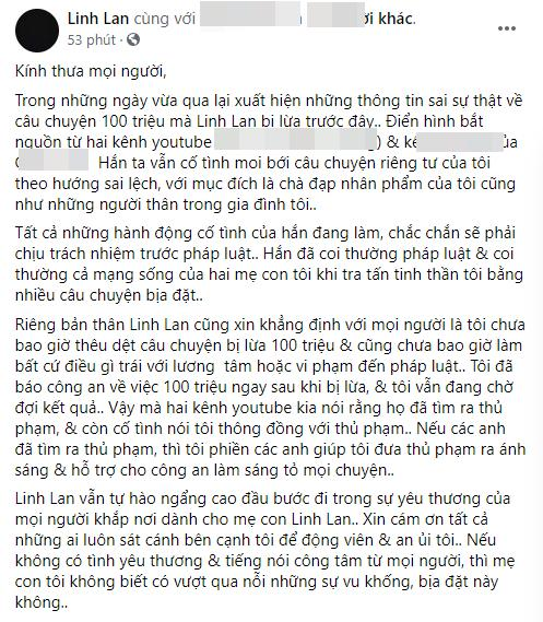 Bị nghi dựng chuyện mất 100 triệu, vợ hai Vân Quang Long nói gì?-3