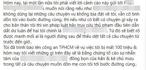 Bị nghi dựng chuyện mất 100 triệu, vợ hai Vân Quang Long nói gì?-4