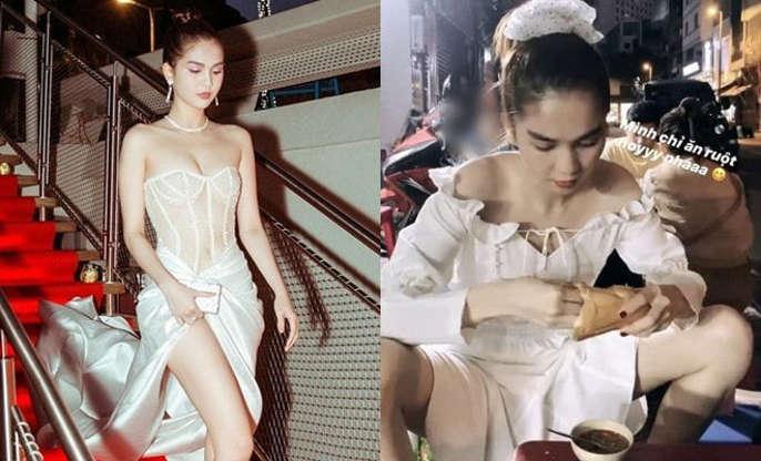 Ngồi dạng chân mặc corset ngực trần, Ngọc Trinh bị hỏi: Bán kỹ hay bán thân-3