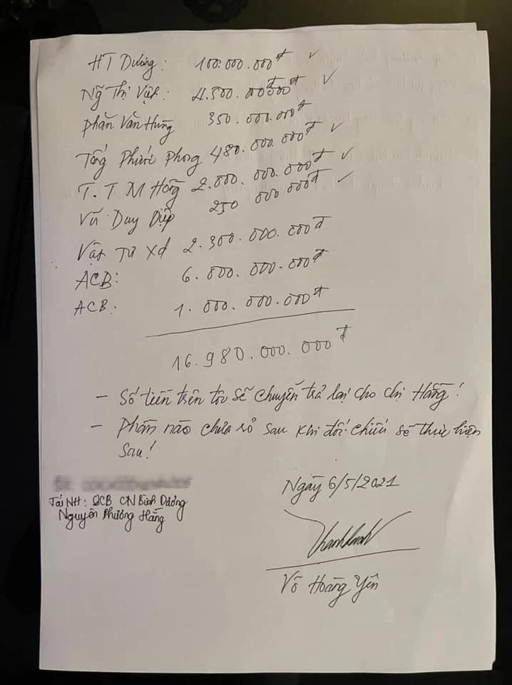 Võ Hoàng Yên trả lại 17 tỷ đồng cho vợ chồng ông Dũng Lò Vôi-2