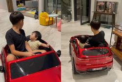 Đàm Thu Trang khoe ảnh 2 con 'đua tốc độ' cực oách