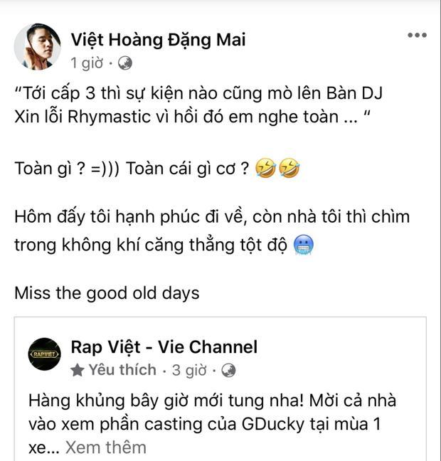 Vì sao BTC Rap Việt che tên B Ray trong bài thi casting của GDucky?-1