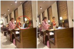 Bức xúc trước cảnh người mẹ vô tư để con nhỏ nghịch phá đồ đạc trong nhà hàng