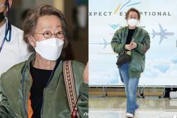 Sao nữ 74 tuổi đoạt giải Oscar xuất hiện tại sân bay, phong cách ăn mặc khiến dân mạng ngỡ ngàng