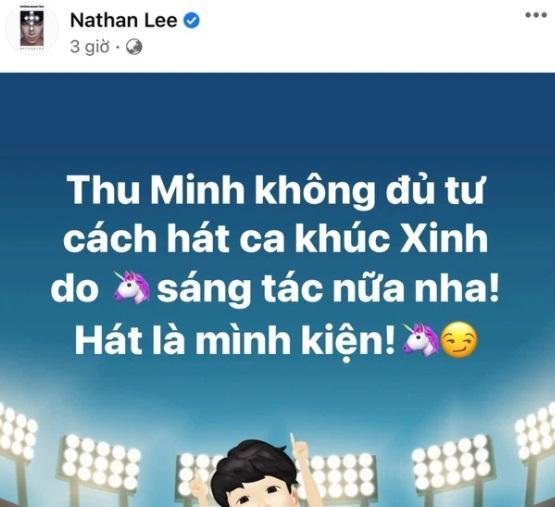 Thu Minh - Nathan Lee từng trên bến dưới thuyền, ai nghĩ có ngày lật mặt?-3