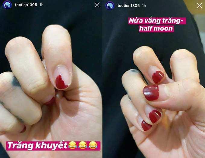 Dịch Covid-19 không thể ra tiệm, móng tay Hòa Minzy nham nhở thấy thương-4