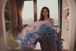 Thót tim cảnh tung váy suýt 'lộ hàng' của bà xã 'Shark' Hưng