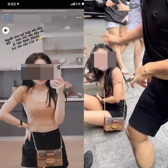 Xôn xao hot girl đình đám Hà thành bị đánh ghen giữa phố-2