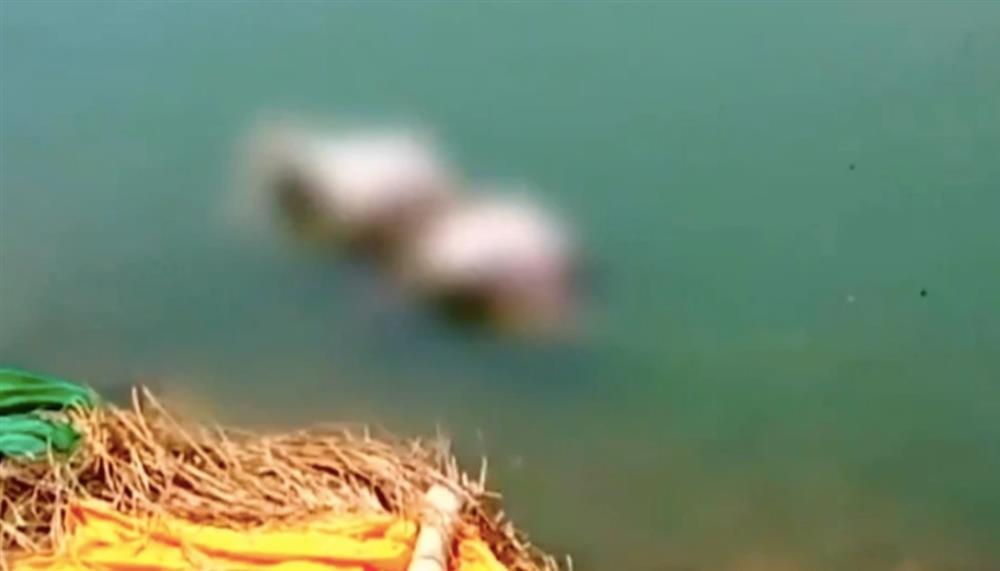 Kinh hoàng Ấn Độ: Thi thể bệnh nhân Covid-19 trôi dạt vào bờ sông Hằng-1