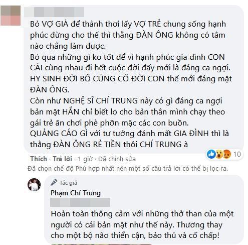 Chí Trung gay gắt khi bị móc mỉa bỏ vợ già theo gái trẻ-3