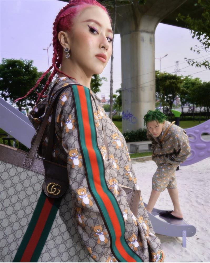 Sao Việt lăng-xê mốt make up mắt xanh đỏ lòe loẹt như thập niên 90s-9