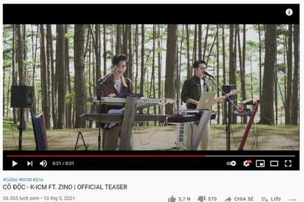 Antifan 'cà khịa' việc để tên K-ICM phía trước ca sĩ Zino (MONSTAR) trong tiêu đề MV mới