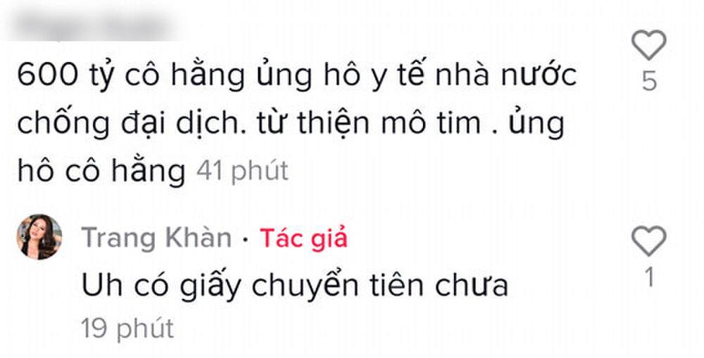 Trang Trần mỉa mai bà Phương Hằng, đòi xem giấy chứng thực 600 tỷ làm từ thiện-7