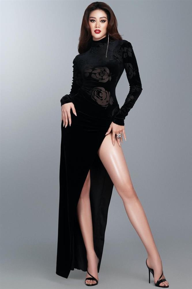 Hé lộ đầm dạ hội Khánh Vân chặt chém ở bán kết Miss Universe-4