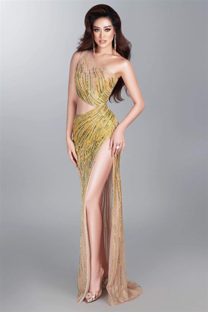 Hé lộ đầm dạ hội Khánh Vân chặt chém ở bán kết Miss Universe-6